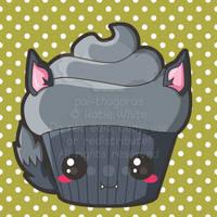 Werewolf Cupcake by pai-thagoras