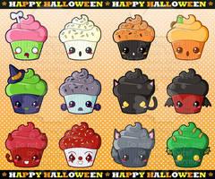 Halloween Cupcakes by pai-thagoras