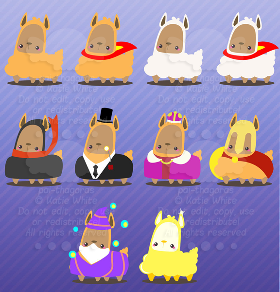 A Lotta Lil' Llamas by pai-thagoras