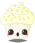 DaD - 073 Pixel Ghostie Cupcake by pai-thagoras