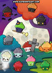 Spooky Cupcakes Poster