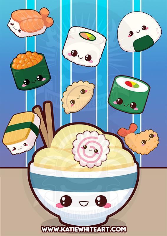 Kawaii Sushi Poster by pai-thagoras on DeviantArt