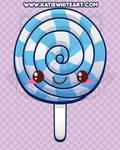 Kawaii Blue Lollipop
