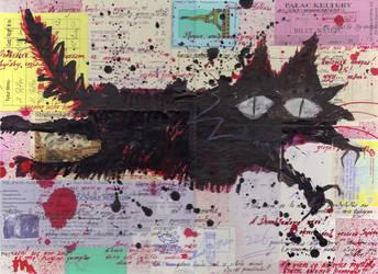 Black Evil Cat