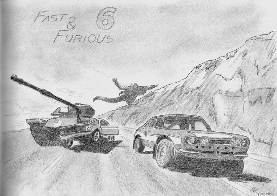 how to draw fast and furious 7 cars