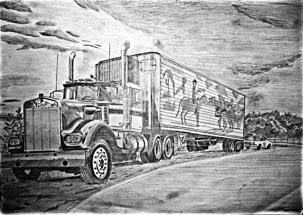 Kenworth W900 Smokey And The Bandit By Zeevar On Smokey The Coloring Pages