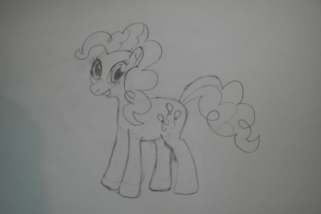 Pony Sketch #4 - Pinkie Pie by diggerthechamp