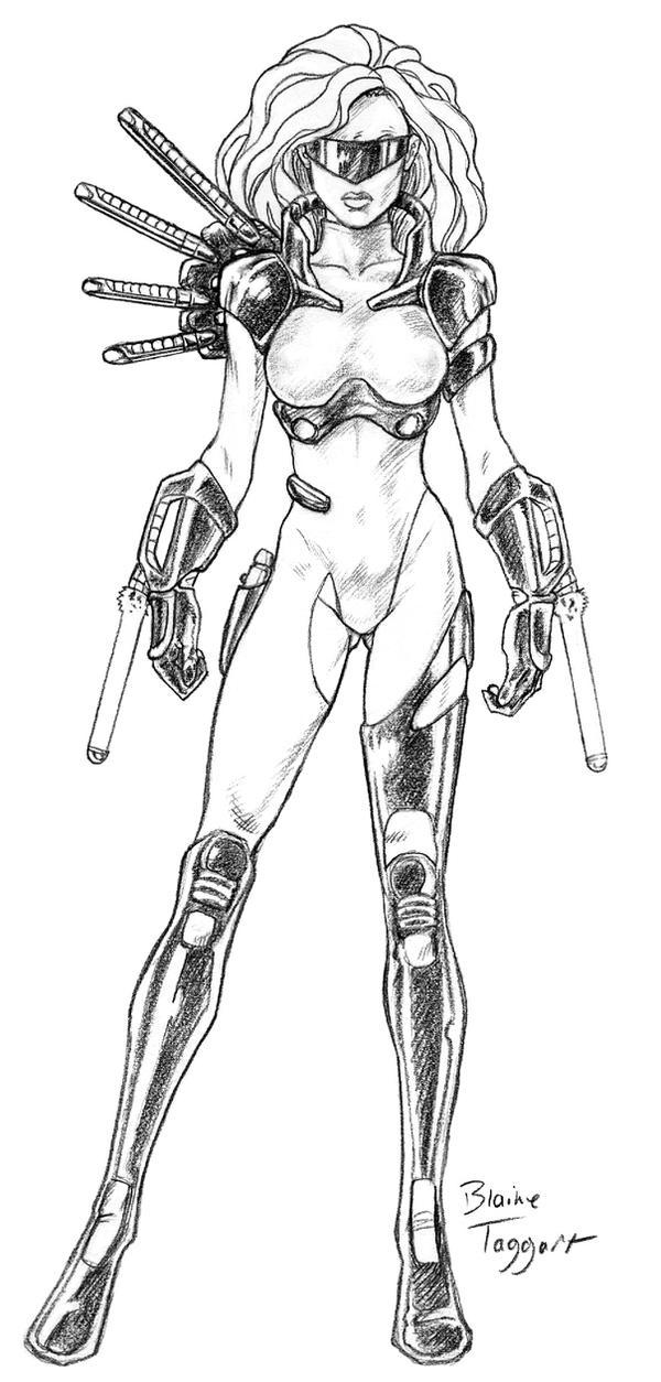 Cyberpunk Assassin by staino