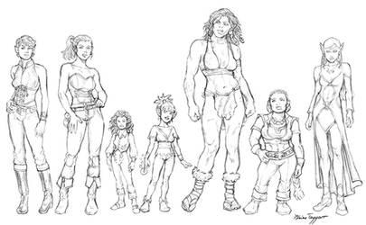 Fantasy Women by staino