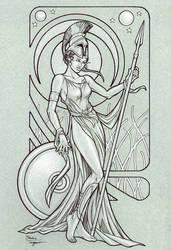 Athena by staino