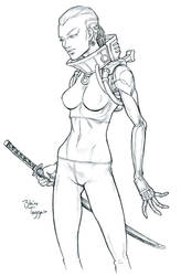 Cyborg Assassin by staino