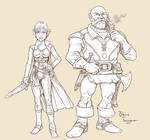 Halfing and Dwarf