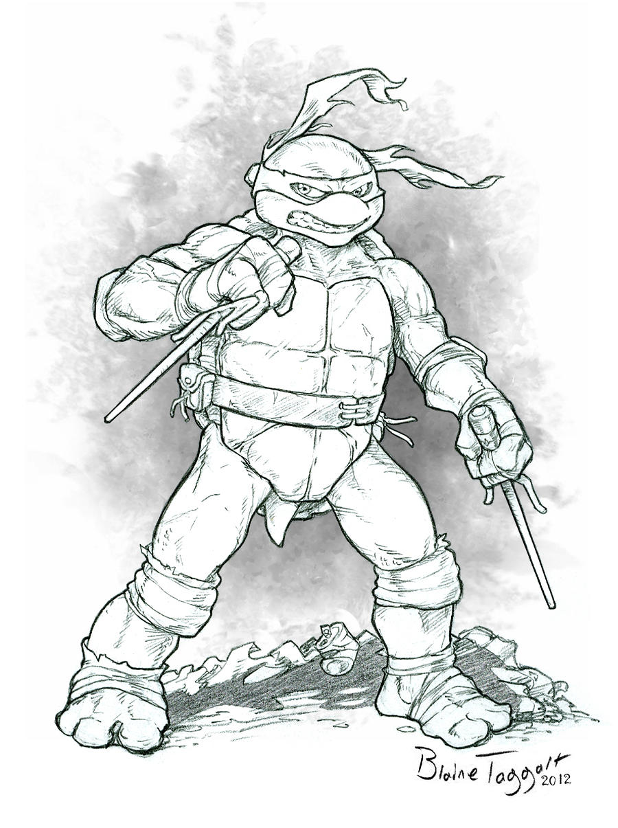 Raphael the Ninja Turtle by staino on DeviantArt
