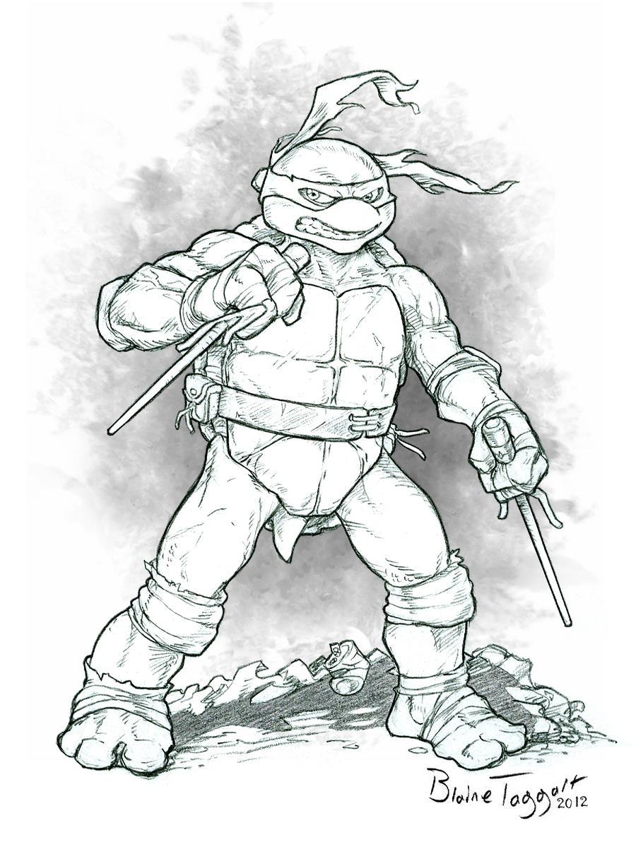 Raphael the Ninja Turtle by staino on DeviantArt