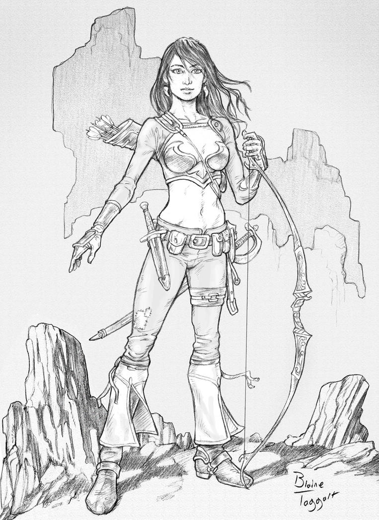 The Huntress by staino on DeviantArt