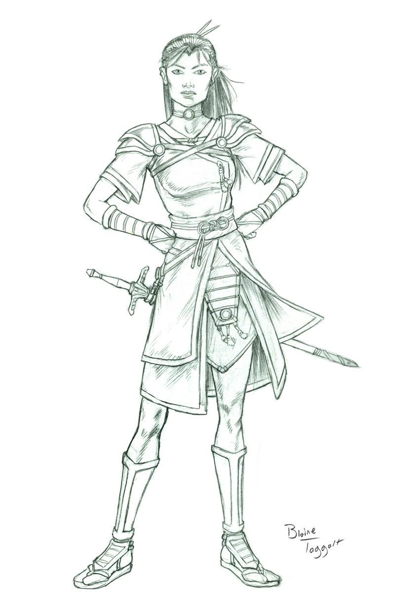 Half Orc Portrait Fantasy Characters: Fe...