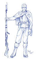 Rebel Soldier Sketch by staino