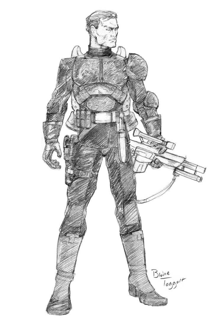 Bounty Hunter In Black by staino