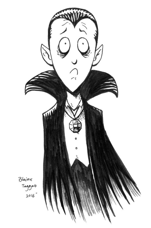 The Sad Vampire Boy by staino