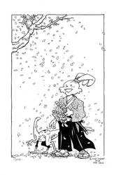 Usagi and Spot by Blaine Taggart by staino
