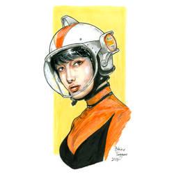 Beautiful Sci Fi Girl by staino