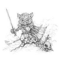 Battle Kitten by staino