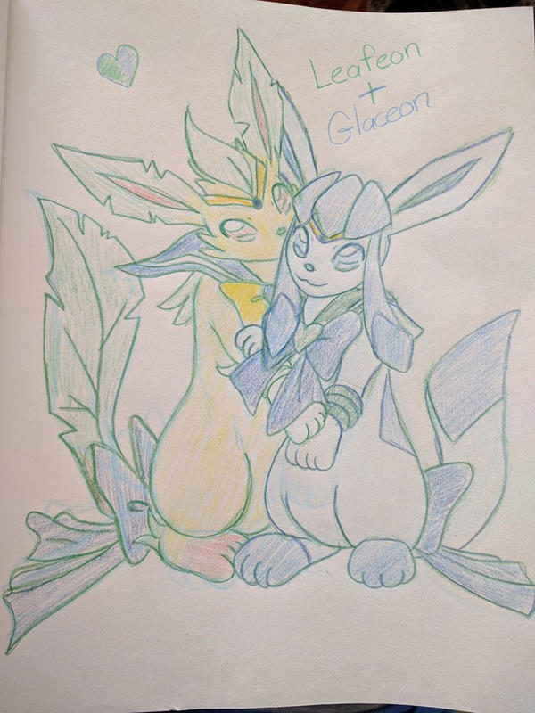Sailor Leafeon and Sailor Glaceon by faeore