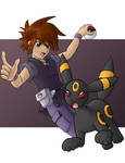 Gary Oak and Umbreon by faeore