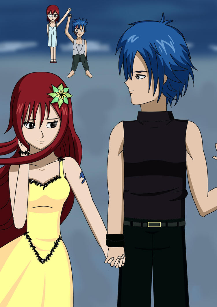 Erza and Jellal by SilviaInverse on DeviantArt