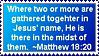 Matthew 18:20 Stamp by SailorMoonAndSonicX
