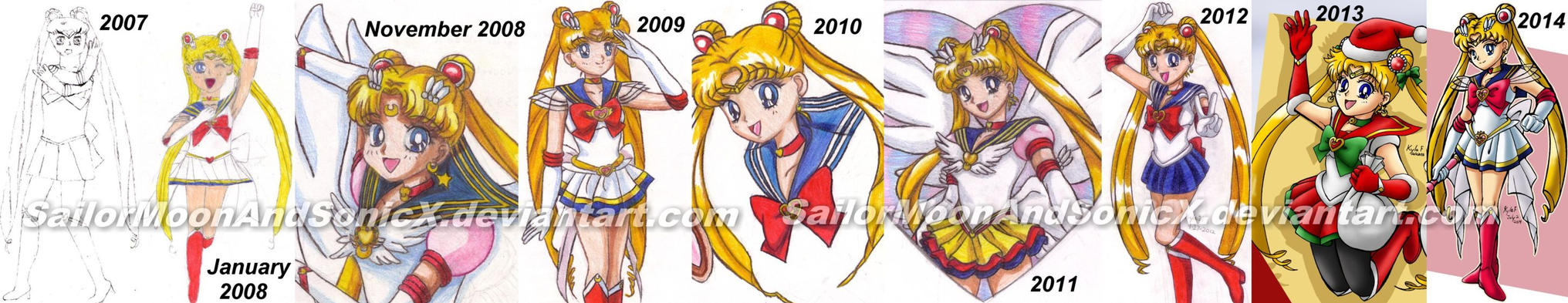 Sailor Moon Improvement: 2007 to 2014 by SailorMoonAndSonicX