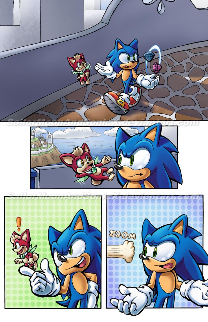 Archie Sonic Portfolio 2: Page 1 by SailorMoonAndSonicX