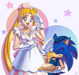 Sonic and Usagi Cafe 2 by SailorMoonAndSonicX
