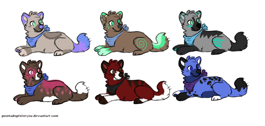Canine Adoptables #2, #4 OPEN by KixAdopts