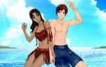 Couple Beach Portrait: Yanit and Alex