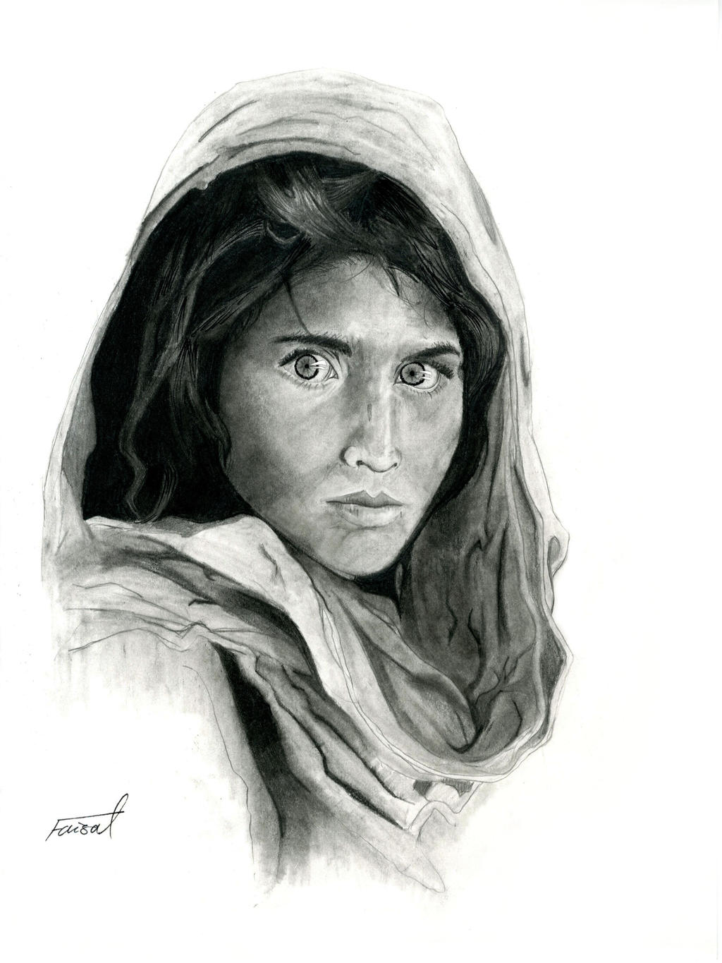 Afghan Girl (Sharbat Gula) by fizz1173