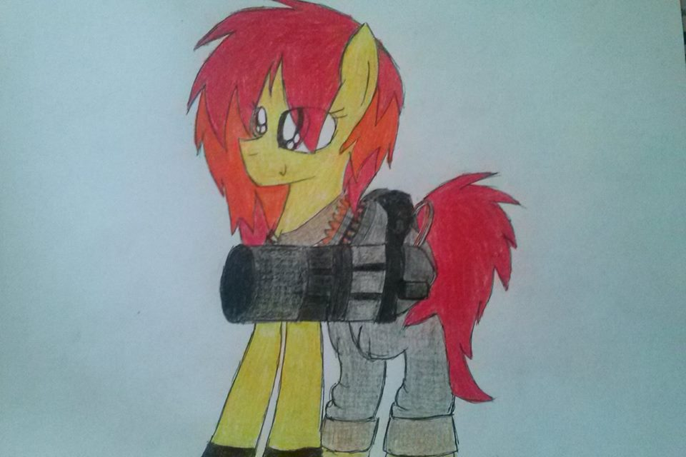 Poni Team Fortress 2- Clevernot is ready to die! by Nniepelnosprytna