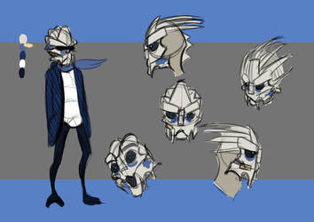 Mass Effect Animation: Kid Garrus Design by Caleb-Riley