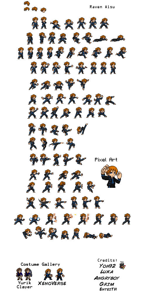 Raven LSW SpriteSheet by FrostRaven32