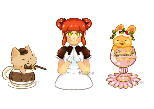 Some cute teacats and Gala!