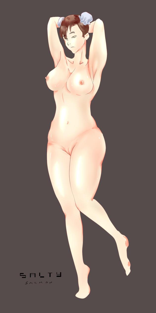 Chun Li [Nude] by SalmonArt