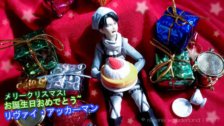 Happy birhday, Levi-Heichou! 12-25-17 by reveriewonderland
