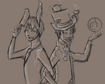 Sips bunny and Sjin Hatter