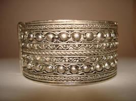 jewellery silver bracelet 1 by Visualjenna-Stock