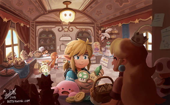 Princess Peachs Bakery by BettyKwong