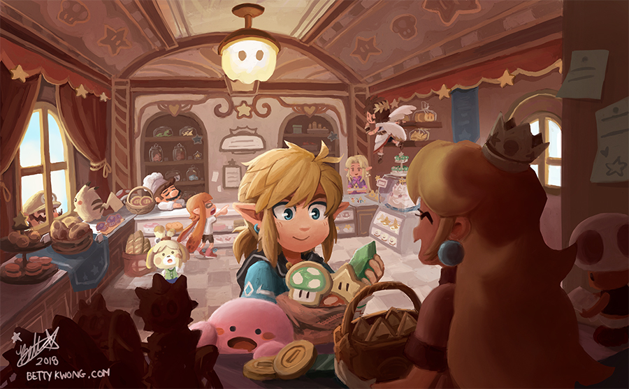 Princess Peachs Bakery by BettyKwong