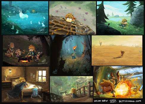 Zelda Breath of the Wild Speed Paints