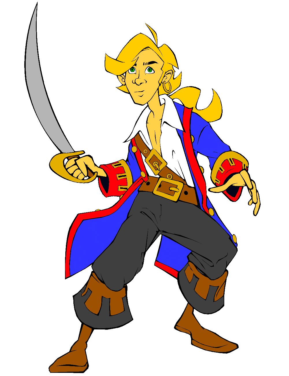 Guybrush Threepwood Colored by SickSean