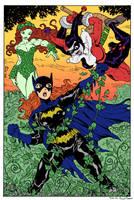 Batgirl vs PoisonIvy Harley by Dogsupreme by SickSean