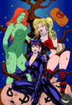 Catwoman Harley Quinn And Poison Ivy By Leomatos20